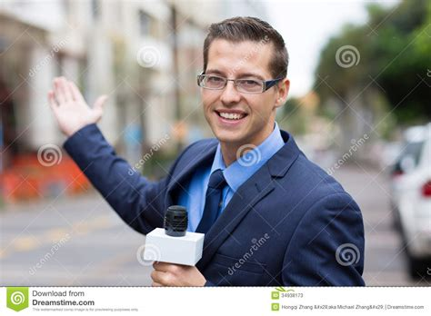 The Reporter news reporter broadcasting stock image image of