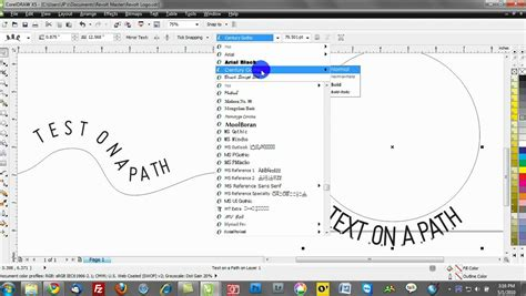 corel draw x5 training corel draw x5 training video tutorials text on a path
