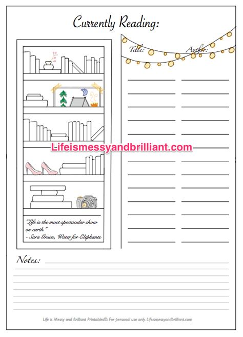 printable book journal pages free bullet journal printables