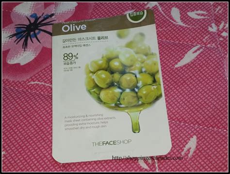The Shop Real Nature Mask New Design X 12 Ea the shop real nature olive mask review