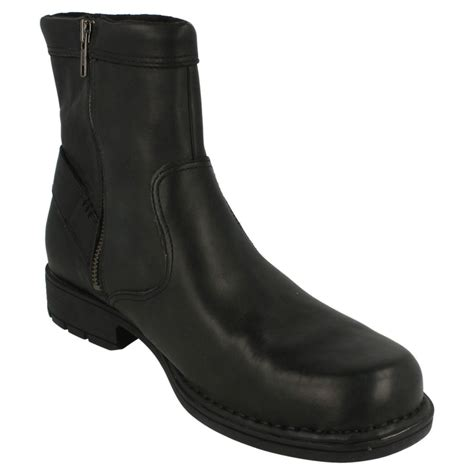 zip up boots mens rockport leather zip up boots ebay