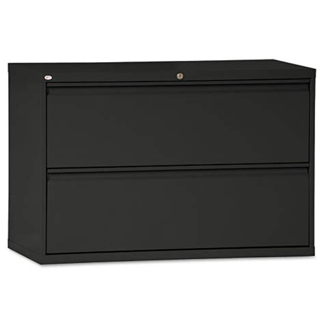 1 Drawer Lateral File Cabinet Two Drawer Lateral File Cabinet 42w X 19 1 4d X 28 3 8h Black