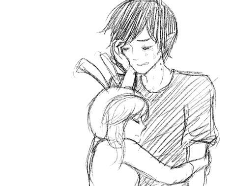 Cute Cuple Hug And Kissing Sketch Pics | cute anime couple hug drawing hot girls wallpaper