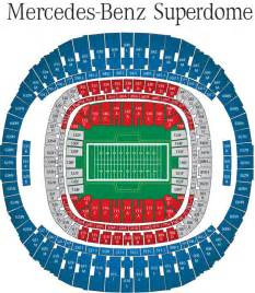 Mercedes Superdome Map Bowl 47 Tickets 2013 Superbowl Tickets