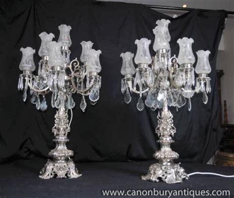 großer silberner kerzenständer kandelaber glas bestseller shop