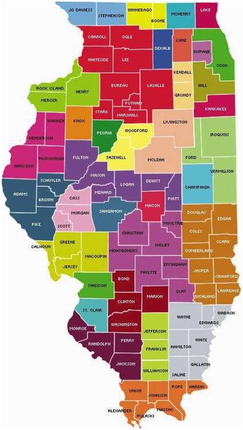 map of counties in illinois map of illinois counties free printable maps