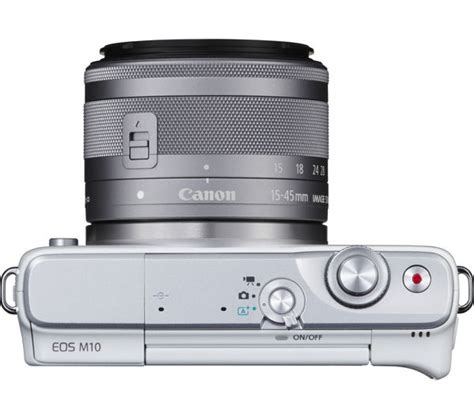 Canon Eos M10 Mirrorless Digital With 15 45 Mm Lens Black buy canon eos m10 mirrorless with 15 45 mm f 3 5 6 3 lens white free delivery currys
