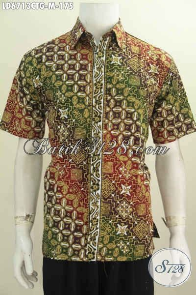 Baju Pakaian Pria Busana Kemeja Pendek Motif Batik Murah 3 baju batik trend motif 2016 busana batik pria muda ukuran m model lengan pendek motif