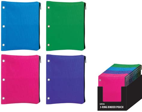 wholesale 3 ring binder pouch with zipper closure sku