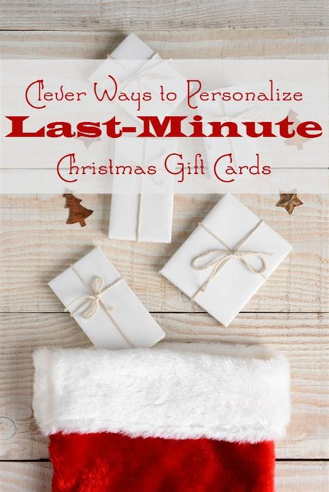 Last Minute Gift Idea Gift Cards - clever ways to personalize last minute christmas gift cards pretty opinionated