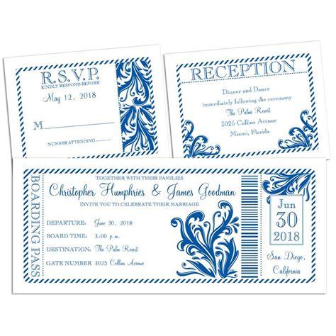 3 In 1 Wedding Invitations
