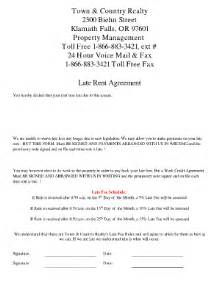 Rent Payment Agreement Template Late Rent Payment Agreement Form Free Printable Documents