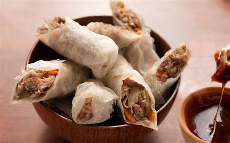 Duck Confit Fried Spring Rolls Recipe   Chowhound