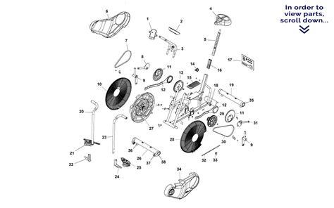 schwinn airdyne parts diagram schwinn airdyne exercise bike parts manual bicycling and