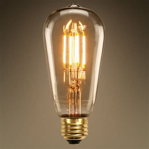 Edison Light Bulb Led Led Edison Bulb 4 5w 60w Equal 2200k Tinted