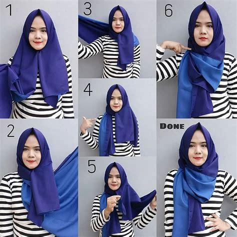tutorial hijab pashmina satin syar i 35 cara memakai jilbab pashmina simple kreasi terbaru 2017