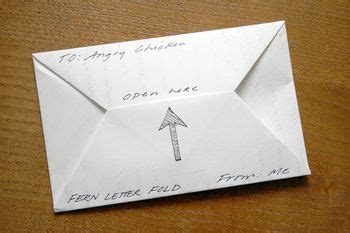 Paper Message Folding - letter folding mail