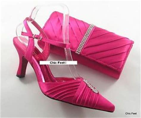 womens pink fuschia wedding prom evening shoes