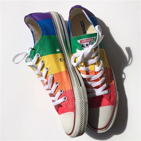 marriage equality pride custom converse shoes
