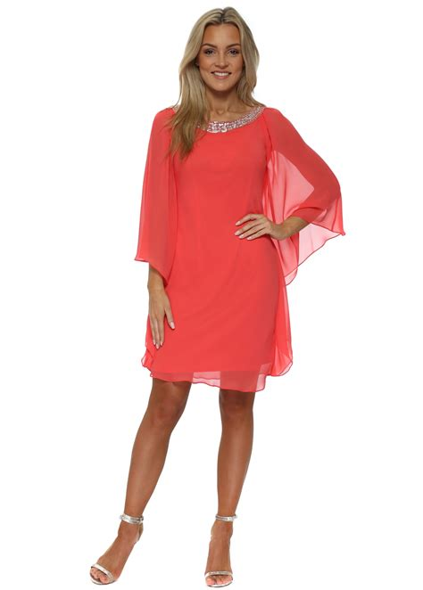 Batwing Dress mascara coral batwing dress mc163005