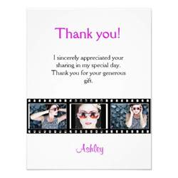 graduation thank you photo note card filmstrip zazzle