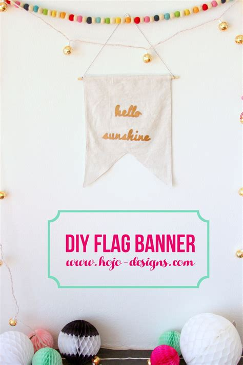 Handmade Nursery Decor - diy flag banner handmade nursery decor