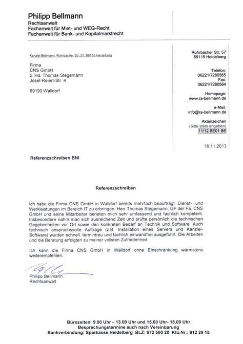 cns gmbh 187 archive referenzschreiben einer anwaltskanzlei cns gmbh