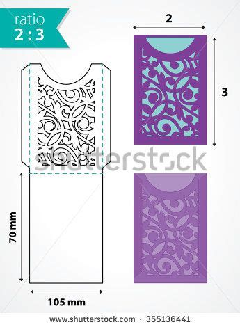 response card envelope printing template die cut pocket envelope template with cutout pattern