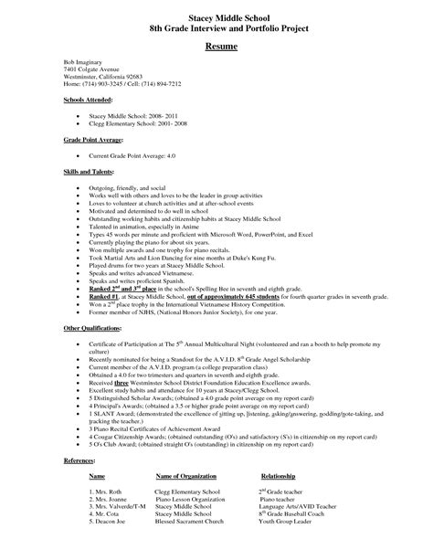 sample resumes for high school students resume samples