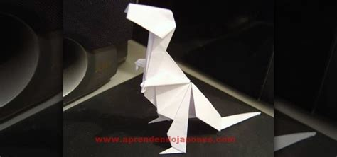 How To Make At Rex Out Of Paper - how to make a folded paper tyrannosaurus rex with origami