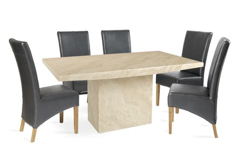 dining table with 6 grey chairs crema 160cm marble effect dining table with 6 cannes grey