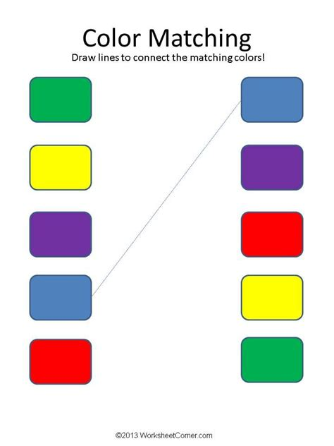 match color matching worksheets color matching worksheets ideas