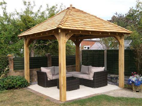 diy gazebo oak gazebo 3mx3m including cedar shingles diy kit cedar