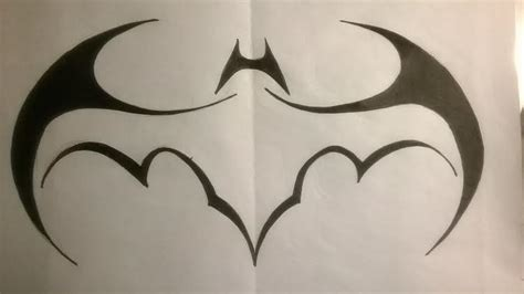 tattoo batman tribal tribal batman batwing logo by lrayjus21 on deviantart
