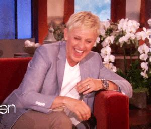 ellen degeneres laughing laughter s gifs on giphy