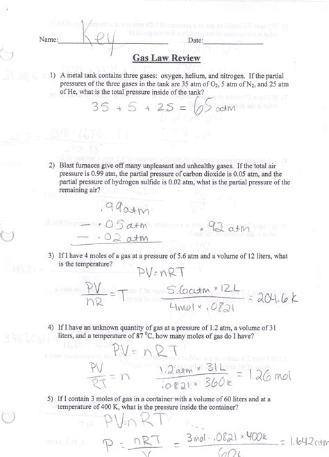 Boyles And Charles Worksheet by Boyles And Charles Worksheet Answers Images