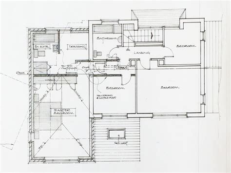 home extension plans domestic extension hand drawn plans plans for you