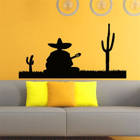 vinyl wall stickers wall decals vinyl sticker silhouette mexican man decal