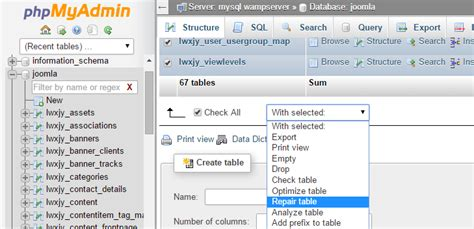 mysql repair table 10 tips to speed up joomla performance