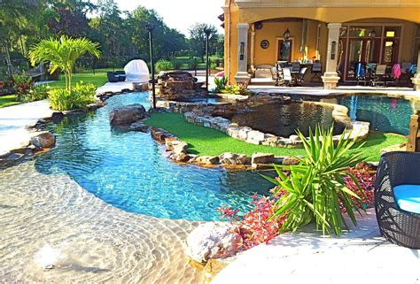 lazy river backyard backyard oasis lazy river pool with island lagoon and