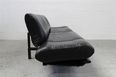 Black Leather Chaise Sofa De Sede Quot Ds 140 Quot Large Sofa Or Chaise With Tables In Black Leather By Reto Frigg For Sale At 1stdibs