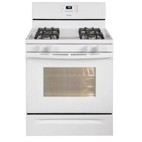 whirlpool 5 0 cu ft gas range with self cleaning oven in