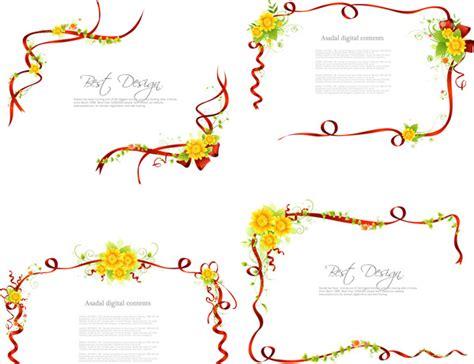 cornici illustrator ribbon fresh border frames vector free vector in adobe