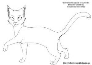 warrior cat template cat template by rukifox on deviantart