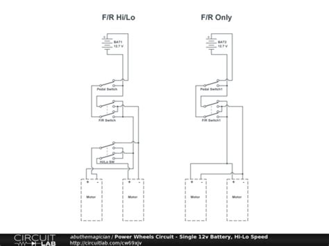 12v power wheels wiring diagram hi lo switch get free
