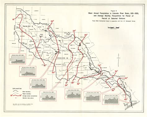 map of texas and colorado numbered report 51 texas water development board