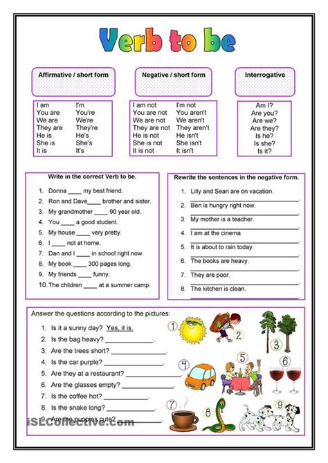 printable english worksheets verb to be esl exercises for verb to be 242 free esl verb to be