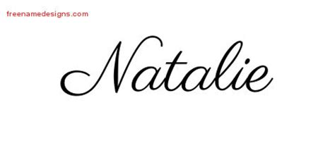classic name tattoo designs natalie graphic download