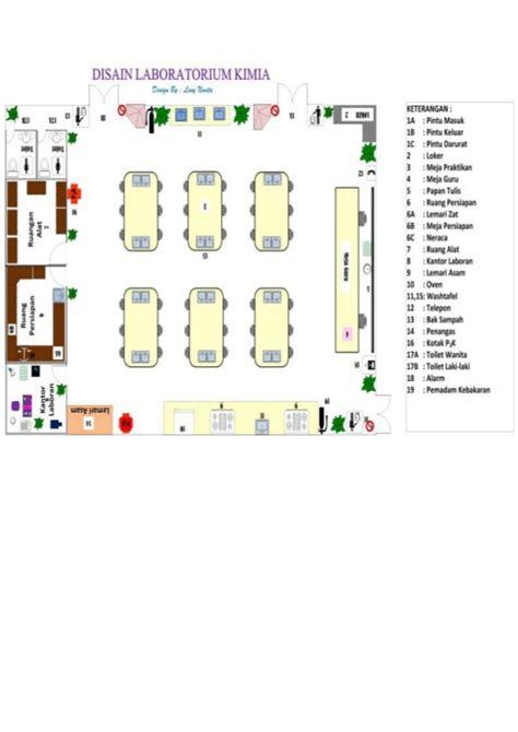 layout tata ruang contoh desain tata ruang lab kimia