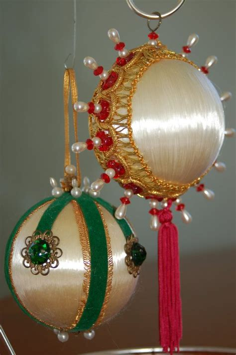 51 best ornaments satin balls red green combined images